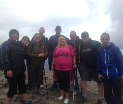 Blakemore Foodservice employees conquer Snowdon for charity
