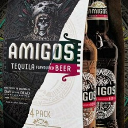 Amigos Tequila flavoured beer to promote Aztec Festival, Day of the Dead, in preference to Halloween