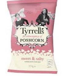 Tyrrells launches limited edition, super-sized Poshcorn sharing bag