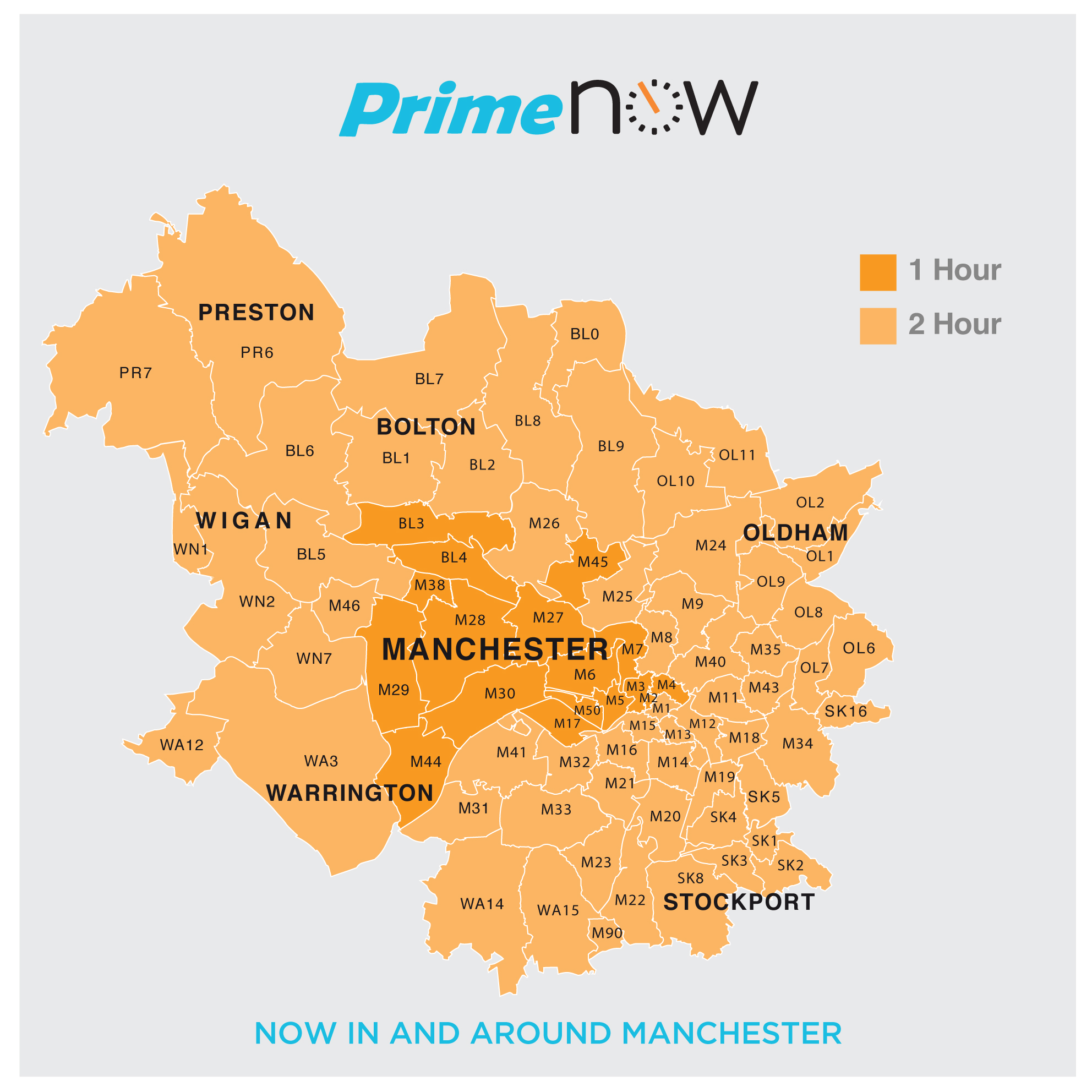 amazon expands prime now service in manchester and. Black Bedroom Furniture Sets. Home Design Ideas
