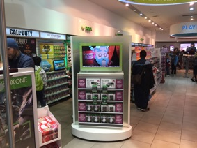 BrightSign players drive these screens in the GAME store in Stratford, London