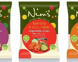 Nim's launches UK's first air-dried vegetable crisps