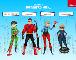 Home cleaning brand, Vileda, adds 'POW'er with new Superhero campaign