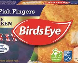 Birds Eye releases limited edition fish finger pack in celebration of Her Majesty's 90th birthday