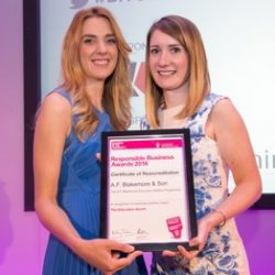 Triple Success for Blakemore's Responsible Business Programme