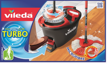 vileda turbo charges its bestselling easy wring clean mop and bucket retail times. Black Bedroom Furniture Sets. Home Design Ideas
