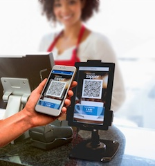 Scanning a unique QR code to upload the bill straight to the users phone for quick tap payments