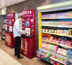 Global on-the-go coffee brand Costa Express renews UK contract with Shell