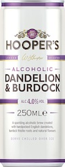 Contemporary new serve for Hooper's star flavour 'Dandelion and Burdock'