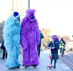 Abominable: five neon yetis feature in Argos's new Christmas ad campaign