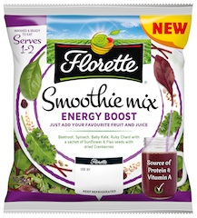 Florette launches Energy Boost and Superfood Smoothie Mixes