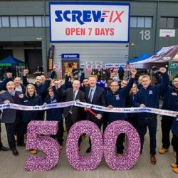 Screwfix marks milestone with opening of 500th store