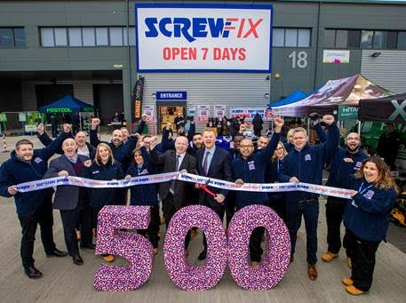 screwfix marks milestone with opening of 500th store. Black Bedroom Furniture Sets. Home Design Ideas