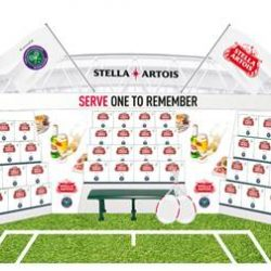 Stella Artois serves the perfect match with The Championships, Wimbledon 2017