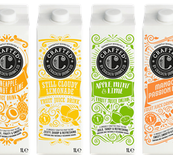 Crafted by Cracker Drinks Co juice drinks launch in UK