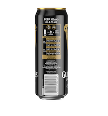 Diageo announces Guinness as first global beer brand to provide consumers with on-label alcohol & nutritional content