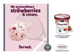 Häagen-Dazs ramps up Wimbledon partnership with playful twist on classic Strawberries and Cream pairing