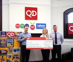 QD Stores smashes fundraising pledge for East Anglia's Children's Hospices' nook appeal