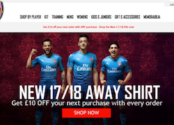 Arsenal transforms online retail site, ArsenalDirect.com, for fans