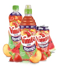 Vimto adds Watermelon, Stawberry and Peach flavour to Remix range