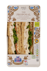 Sales double of M&S's 'The Proposal Sandwich' revealing the UK is a nation of romantic royalists