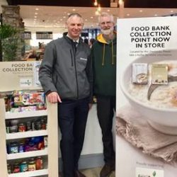 Booths increases local food banks' support as demand increases