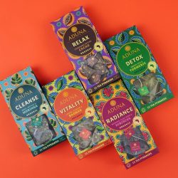 Aduna releases new Super-Teas range with design from Carter Wong