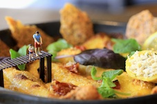 Micro-artist, Roy's People, creates mini masterpieces on Zizzi's new summer menu dishes