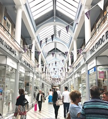 Westgate Arcade in Queensgate Shopping Centre, Peterborough, celebrates its 90th anniversary