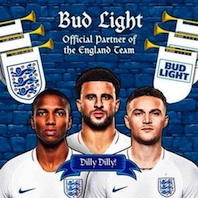 Bud Light announces new sponsorship of the England Men's Football Team