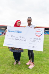 Dina Asher-Smith teams up with reward local hero as part of Spar's 'People's Podium' campaign