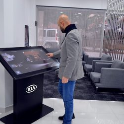 Kia installs 'pick and flip' functionality with Zytronic touch tables