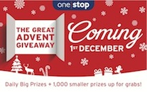 One Stop launches 'The Great Advent Giveaway' #OneStopAdvent