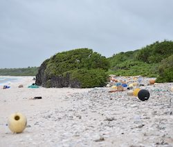 Expedition to clean up uninhabited island littered with plastic waste