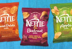 KETTLE Chips pairs fruit and vegetable slices with crisps in new range