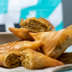Indian fast-food restaurant trademarks samosa and onion bhaji hybrid