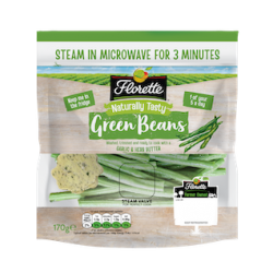 Florette adds microwaveable Green Beans pouch to line up
