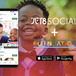 JET8 Foundation and UEFA Foundation for Children launch football Social Commerce App to make difference in children's lives
