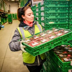 Stats and pictures show how much food goes through Co-op distribution hub ahead of the bank holiday