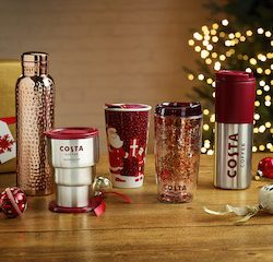 Costa unveils Christmas menu and festive cup designs