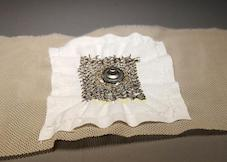 New 'smart textile' electrode accurately monitors heart rates making it ideal for fitness wear