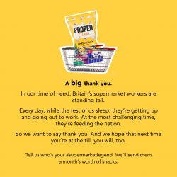 National thank you campaign launches for supermarket workers