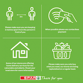 Spar outlines social distancing measures to protect staff and customers