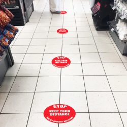 Beaverswood's floor signals aim to help people stay safe and remain two metres apart in public queues and workplaces