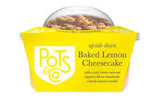 Pots & Co launches 'upside-down' Baked Lemon Cheesecake