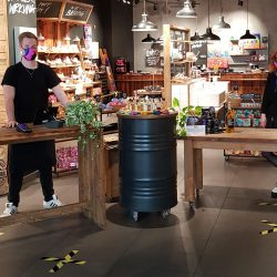 Lush begins reopening stores to a new shopping reality