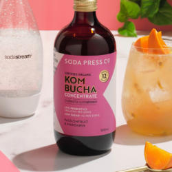 SodaStream adds new Kombucha flavour to Soda Press Co. range