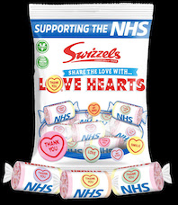 Co-op stocks special edition Love Heart sweets that will help raise funds for the NHS