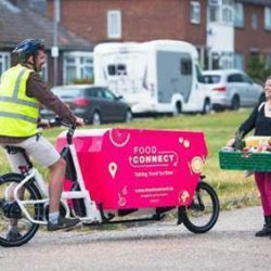 E-asy riders deliver surplus food to vulnerable households