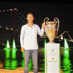Heineken marks the return of the UEFA Champions League by draping the host city of Lisbon in green
